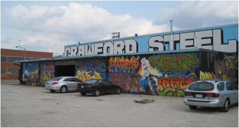 Figure 2. CMK crew Kung Fu Hip Hop graffiti mural wall. Photograph by Caitlin Bruce. September 2012.