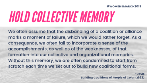 hold collective memory